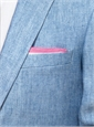 Linen Pocket Squares with Contrasting Borders