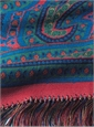 English Printed Wool and Silk Challis Scarf