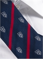 Silk Woven Club Tie in Navy