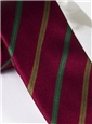 Silk Stripe Tie in Ruby