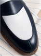 The Charleston Loafer in Navy and White