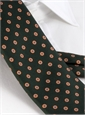 Silk Print Tie with Octagon Motif in Hunter