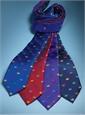Silk Woven Crown Motif Tie in Cobalt