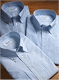 140s Oxford Button Down in White with Blue University Stripe