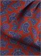 Silk Print Paisley Ascot in Henna