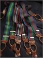 Navy, Wine & Tartan Striped Braces
