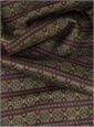 Wool and Silk Aztec Printed Scarf in Burgundy