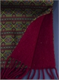 Wool and Silk Aztec Printed Scarf in Burgundy