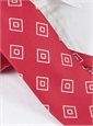 Silk Diamond Printed Tie in Fuchsia