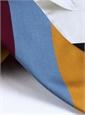Silk Block Stripe Tie in Sky, Wine, Navy and Gold