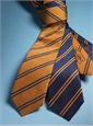 Silk Double Bar Stripe Tie in Copper