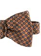 Silk Dot Printed Bow in Marigold