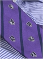 Silk Woven Club Tie in Violet