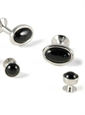 Oval Onyx Formal Wear Set