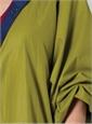 Marie Meunier Reversible Silk Raincoat in Green and Blue