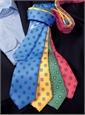 Silk Clover Motif Tie in Marigold