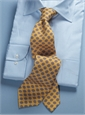 Diamond Printed Panama Silk Tie in Marigold