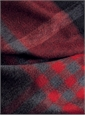 Cashmere Stole in a Red and Grey Traditional Plaid