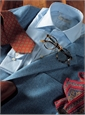 Sky Blue Herringbone Cashmere Sport Coat