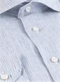 Petunia and Royal Pinstripe Linen Cutaway