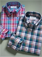 Large Plaid Button Down in Navy
