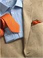 Pearl and Sable Herringbone Silk Sport Coat