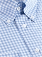 White and Sky Graph Check Button Down
