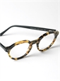 Bold Semi-Round Frame in Light Tortoise with Black Temples