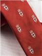 Silk Woven Crest Tie in Tangerine