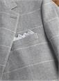 Jacket Wool/Cotton/Cashmere Grey Herringbone