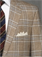 Jacket Cashmere Brown/Cream Glen Plaid Sky Windowpane