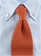 Classic Silk Knit Tie in Salmon