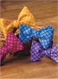 Silk Diamond Motif Bow Tie in Magenta