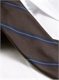 Silk Woven Stripe Tie in Peat