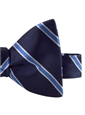 Silk Stripe Bow Tie in Navy and Cornflower