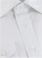 White Broadcloth Spread Collar Shirt