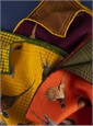 Pheasant and Houndstooth Reversible Pocket Squares