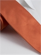 Woven Silk Solid Tie in Coral