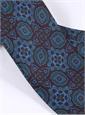 Silk Medallion Motif Printed Tie in Wine