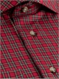 Red Plaid Poplin Modified Cutaway