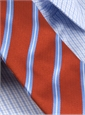 Mogador Silk Stripe Tie in Orange