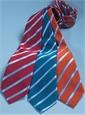 Mogador Silk Stripe Tie in Orange