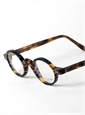Archival Round Frame in Blue Tortoise