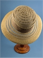 Ladies Open Weave Straw and Cotton Hat