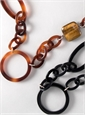 Eyeglass Pendants with Leather Detail