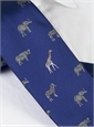 Jacquard Woven Animal Motif Tie in Royal