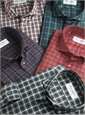 Green and Blue Plaid Poplin Modified Cutaway
