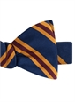 Mogador Silk Stripe Bow Tie in Navy and Claret