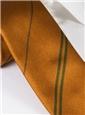 Multi-Stripe Silk Tie in Gold With Field