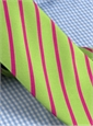 Mogador Bar Stripe Tie in Lime